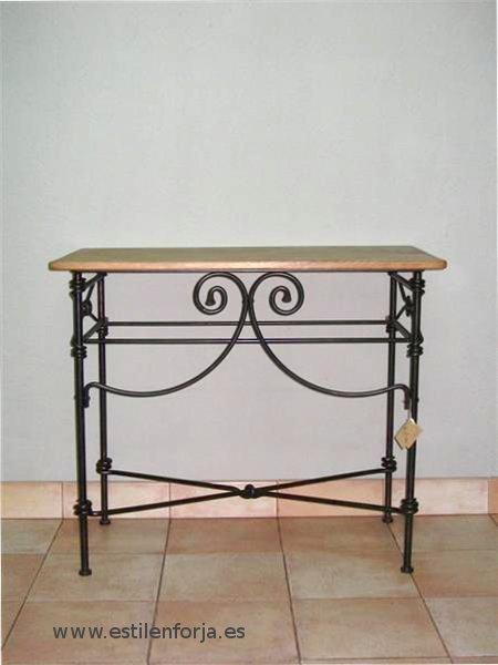 Mesas de hierro forjado con diferentes modelos estil en for Mesas de hierro forjado